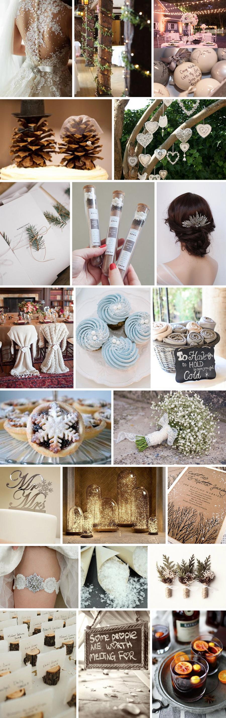 Winter Wedding Details Pallette
