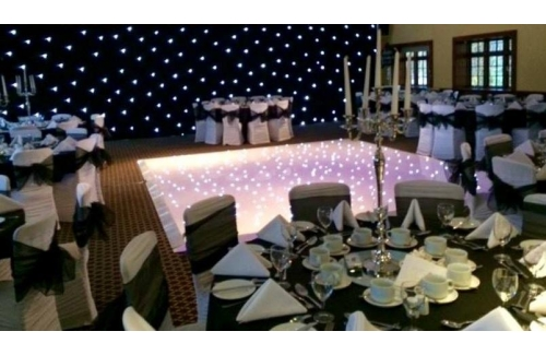 Stunning White LED Sparkle Dancefloor Hire
