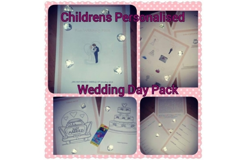 Personalised Childrens Wedding Activity Packs