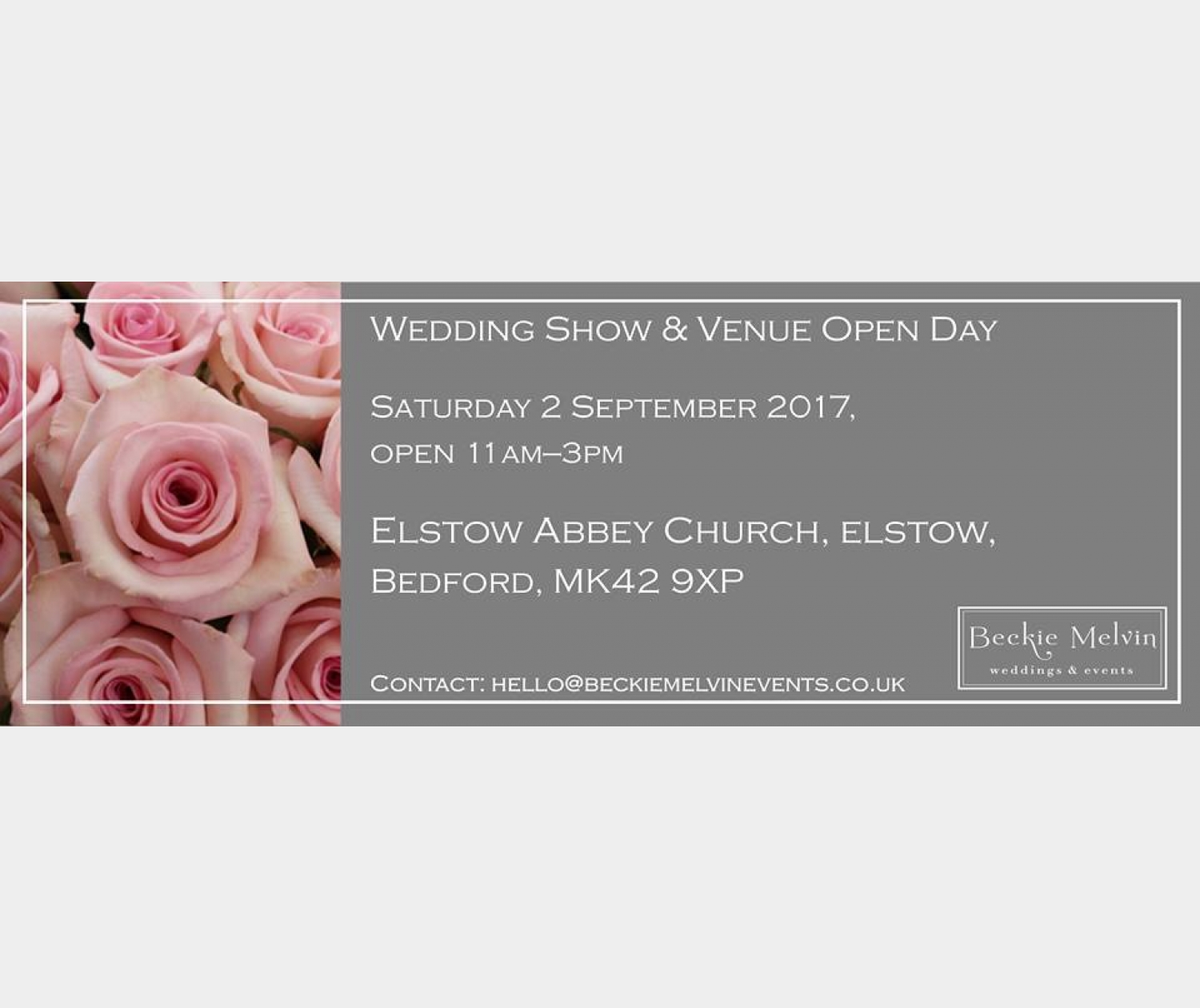 Wedding fayre & Venue showcase - Elstow, Bedford