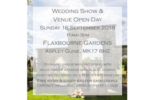 Wedding fayre & Venue showcase - Flaxbourne Garden