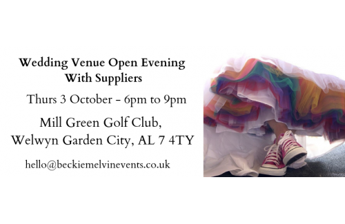 Welwyn Garden City wedding venue open evening